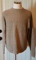 Men's Bill Bass Light Brown Winter Pullover Cotton/Acrylic Sweater Sz Large