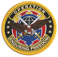 military patch oef enduring freedom eagle swords logo