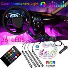 4X 36LED Car SUV Interior Decor Auto Atmosphere Light Strip Music Control Color