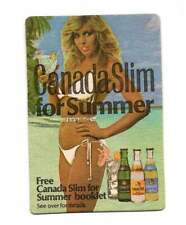 Canada Slim for summer cardboard mat coaster drinking collectable