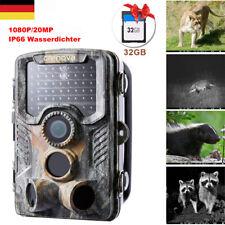Crenova 20MP Wildkamera 1080p Jagdkamera 20M Nachtsicht Fotofalle Wasserdicht