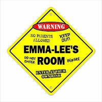 Emma-lee's Room Decal Crossing Xing kids bedroom door children's name girl