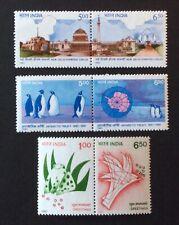 India 1991. Three Pairs  (MNH)