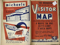 Vintage 1950's Rochester Minnesota Travel Street Automobile Map Antique Book