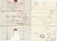 1832/43 2 x HAMILTON PMK WRAPPERS BEFORE & AFTER UNIFORM 1d POST - TO EDINBURGH