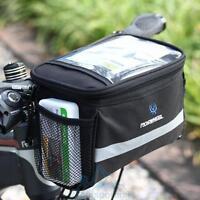 Bike Front Pocket Basket Bicycle Pannier Cycling Handlebar Bag Shoulder Pack