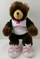 Build A Bear Plush With Shirt And Pink White Sketchers Shoes Brown Bear