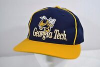 Vintage Georgia Tech Hornets Blue/Gold  Baseball Cap Snap Back