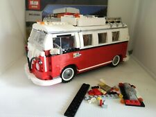 LEPIN LARGE VOLKSWAGEN 30CM LONG CAMPER VAN BUILT COMPLETE INSTRUCTIONS INCLUDED