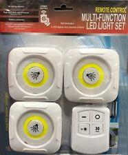 SET DI 3 LUCI A LED MULTIFUNZIONE CON TELECOMANDO REMOTE CONTROL CON BATTERIE
