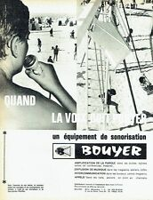 Publicité Advertising   1964  sonorisation Bouyer amplification parole haut parl