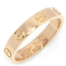 Auth Cartier Mini Love Ring 750(18K) Rose(Pink) Gold #52 US6