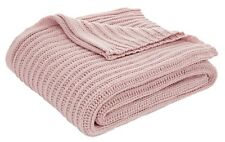 Catherine Lansfield Chunky Knit Blush Throw 125x150cm