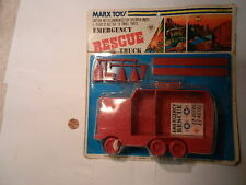 Marx Emergency Rescue Truck playset, sealed on rack card, late playset!