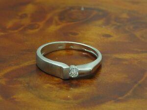 950 Platinum Ring With Brilliant Decorations/ Diamond/ 3,7g/ Rg 51