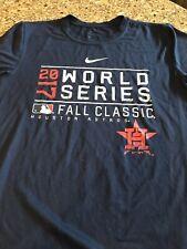 Houston Astros Nike 2017 World Series Champions T-Shirt MLB Champs Blue Small