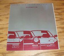 Original 1990 Porsche Color & Interior Trim Foldout Sales Brochure 90