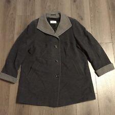 Balldiri 100/% Cashmere Kashmir Donna Maglione 2-fädig scollo a V grigio chiaro XL