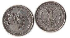 Fantasy Issue Novelty Coin 1888 Morgan Dollar W/ Skull Knight & Horse