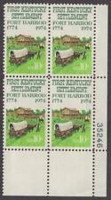 Scott # 1542 - Us Plate Block Of 4 - Fort Harrod, Kentucky - Mnh - 1974