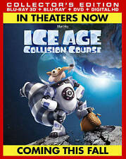 Ice Age: Collision Course (3D, Blu-ray, DVD, 2016) w/Digital, NEW/Sealed