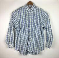 Brooks Brothers 346 Men's Large Check Non-Iron All Cotton Button Down - EUC