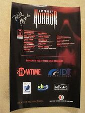 Showtime Masters of Horror mini poster – SIGNED by Mick Garris