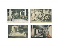Bathhouse scenes 609: 4 vintage postcards printed Kodak paper. Gay Interest.