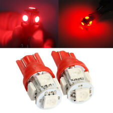 T10 Wedge W5W 5 SMD 194 168 LED Car Side Tail Light Lamp Bulb Red Auto 10Pcs
