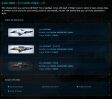 Star Citizen Standalone Vehicle Pack - ADD-ONS - X1 THREE-PACK - LTI