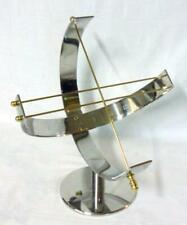 Mid Century Modern Chrome Brass Art Deco Sundial Armillary