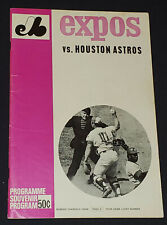 1969 - MONTREAL EXPOS (first year in MLB) vs HOUSTON ASTROS - PROGRAM