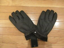 UGG AUSTRALIA MENS BROWN LEATHER GLOVES, UGG BUTTON, NWT $145, L