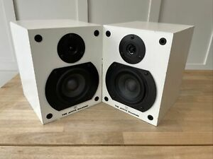 Wharfedale Diamond ACTIVE White Speakers vintage RARE Monitors Built In Amp Used