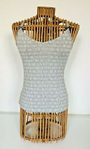 HOUSE OF HOLLAND STRETCH COTTON BLEND RACER BACK CAMISOLE VEST TOP XS BNWOT