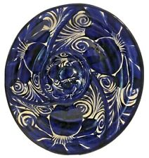 Mexican Ceramic Talavera Appetizer Platter Blue Large Dish Serving Tray Plate