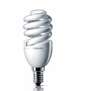 Philips Tornado 12W CFL SPIRAL E14 SMALL SCREW Bulb, COOL DAYLIGHT or WARM WHITE