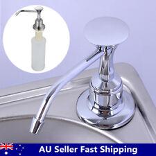 220ml White Kitchen Chrome Liquid Soap Dispenser Bathroom Sink Pump Bottles