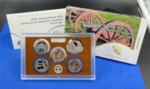 2015 S US Mint American the Beautiful Quarters Copper Proof Set