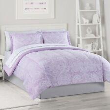6 PC TWIN The Big One PURPLE PAISLEY Comforter Bedding Set
