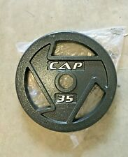 """NEW CAP 35 lb Weight Plate (SINGLE) 2"""" Hole Olympic Barbell FAST SHIPPING"""