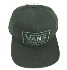 Vans Shoes Rectangle Since 1966 Logo Patch Snapback Hat Cap Black Free Ship NWT