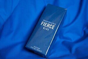 NEW 💯 Authentic FIERCE BLUE Abercrombie & Fitch 3.4 oz/ 100mL Men Cologne SPRAY
