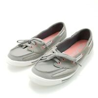 Skechers Boat Shoes Womens Flats Size 6.5 M Gray Slip On