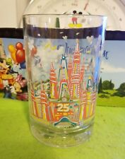 Disney World Glass Cup 25th Anniversary Magic Kingdom Donald Duck