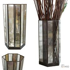 Mercury Glass Vase Candle Holder - Large