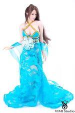 "VIMI Studio VS027 1/6 Chinese Ancient Blue Long Dress For 12"" Female Body"