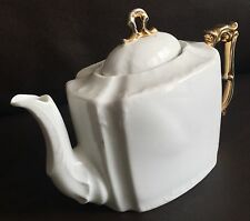 Beautiful Early English Victorian Gold Gilded Dainty Eggshell Bone China Teapot