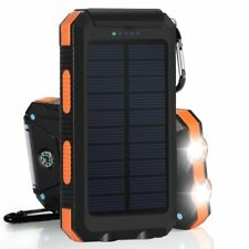 300000mAh  Waterproof  2 USB Portable Solar Battery Charger Power Bank Case DIY