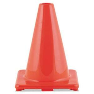 Champion Sport C6OR Hi-Visibility Vinyl Cones 6'' Tall Orange